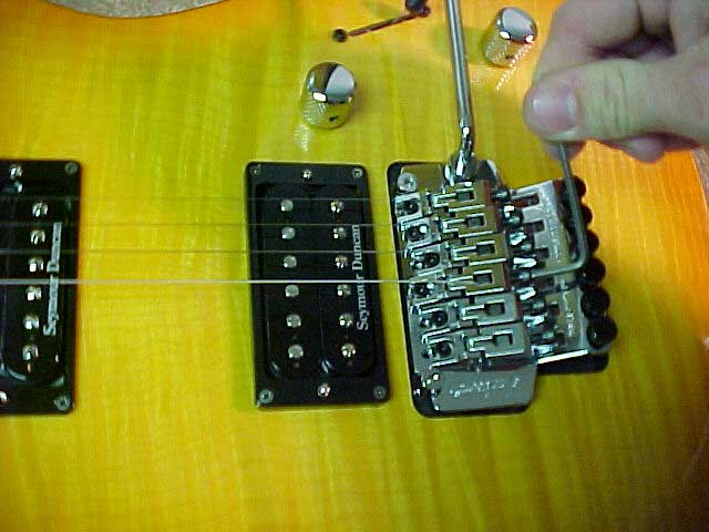 using hex wrench on floyd rose