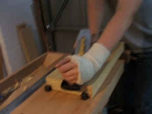 skewing the hand plane