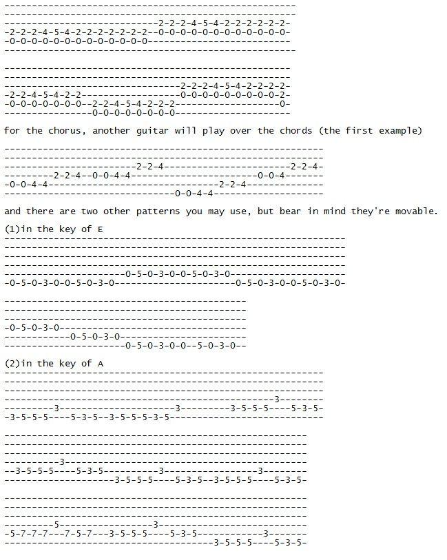 blues rhythm tab