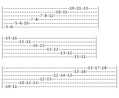 Asian guitar scales