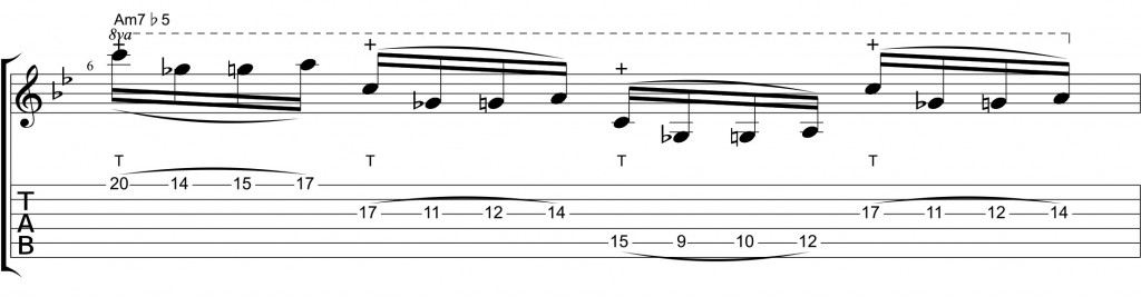 String-Skipping-Tapping diminished